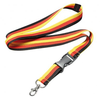 Lanyard Stripes, schwarz/rot/gelb
