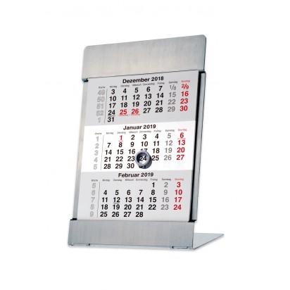 Tischkalender Vela Noble Steel, 1-sprachig deutsch