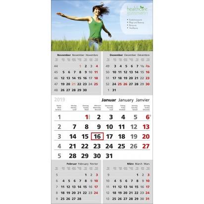 5-Monats-Wandkalender top Five, 3-sprachig
