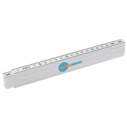 Kunststoff-Glieder-Zollstock 2 m weiß