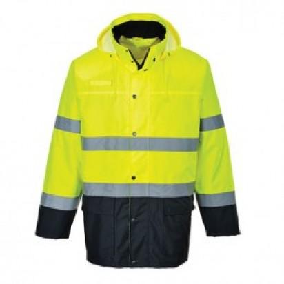 Leichte, 2farbige Verkehrsjacke EN ISO 20471 Klasse 3 EN 343 Klasse 3:1