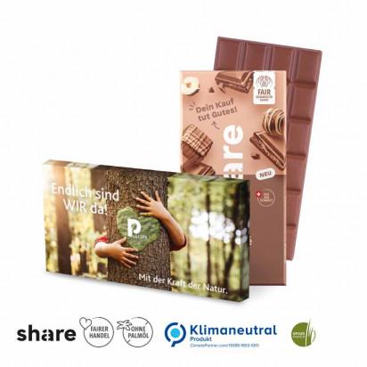 Share Schweizer Schokolade, 100 g, Klimaneutral, FSC®