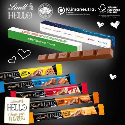 Schokoladen-Stick Lindt HELLO, Klimaneutral, FSC®