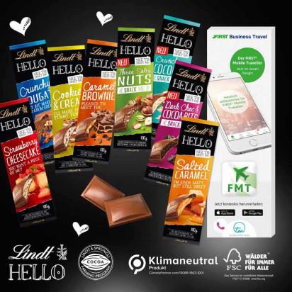 Schokolade von Lindt HELLO, Klimaneutral, FSC®