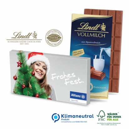 Premium Schokolade von Lindt, 100 g, Klimaneutral, FSC®