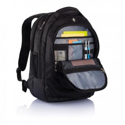 Swiss Peak Outdoor Laptop Rucksack, schwarz