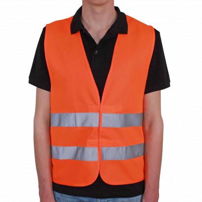 Qualitäts Kfz-Warnweste Recycling | EN ISO 20471, Kl. 2 bedruckbar