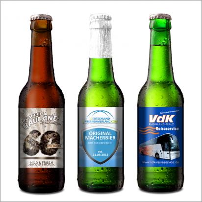 Personalisiertes Bier 0.33 Liter-4-farbig-Helles
