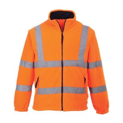 Warnschutz Fleece Jacke mit Netzfutter