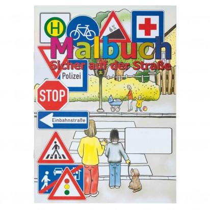 Malbuch 'Sicher auf der Straße' inkl. 1-farbigem Druck
