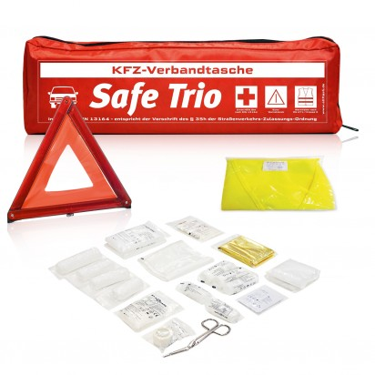 Kfz-Verbandtasche Safe Trio Standard incl. 1-farbigem Standardmotiv
