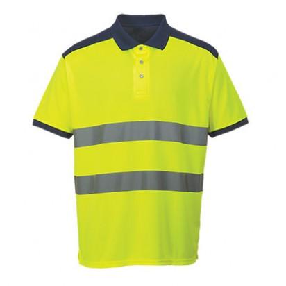 Hi Vis Kontrast Polo Shirt