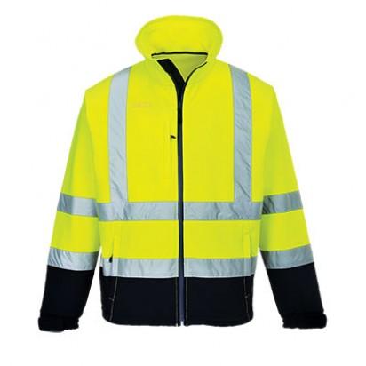 Warnschutz Kontrast Softshell Jacke