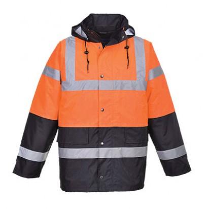 Zweifarbige Warnschutz Verkehrs Jacke