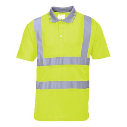 Kurzarm Warnschutz Poloshirt