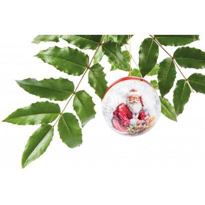 Weihnachtskugel Nostalgie mit Grußkärtchen