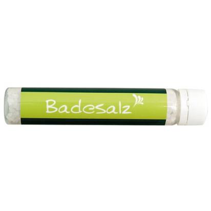 Badesalz im Salt-Tower - 4c-Etikett