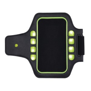 Laufarmband mit LED, schwarz/grün