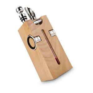 Buche-Block mit Wein